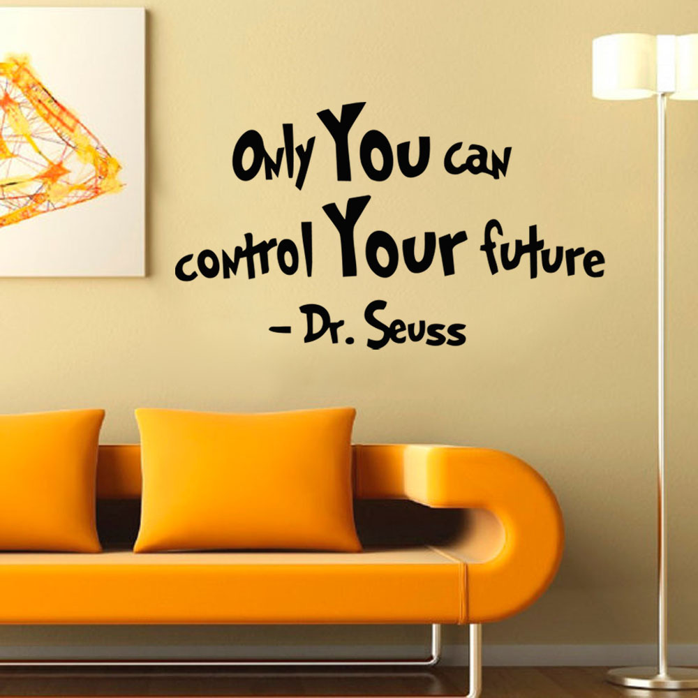 popular dr seuss quotes wall decals buy cheap dr seuss quotes wall inspirational words dr seuss vinyl wall decal art quote only you can control your