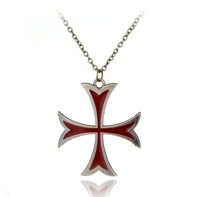 Hot game templar necklace assassins creed figure pendant bronze hot game templar necklace assassins creed figure pendant bronze plated gaes amulet pendant cross necklace pendants aloadofball Image collections