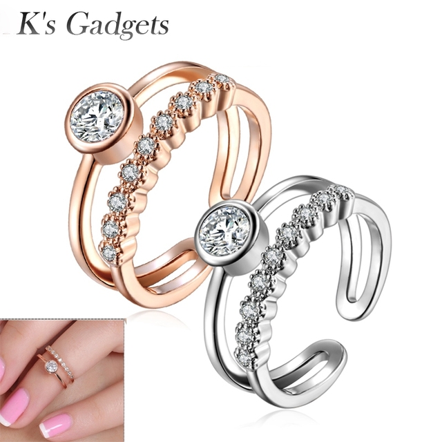 Midi Set Mid Finger Rings Knuckles Toe Finger Joint Bague Phalange Stack Plain S