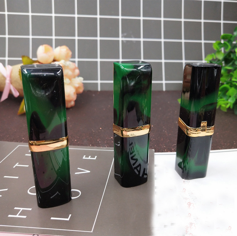 10/20/50PCS Empty 12.1mm Green Square DIY Cosmetic Lipstick Tube Makeup Lip Stick Pipe Shell Lip Rouge/balm Refillable Container 10 20 50pcs 12 1mm black lipstick pipe