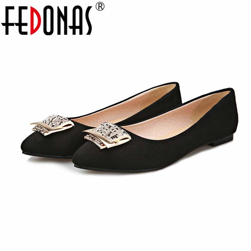 FEDONAS Women Fashion Flats Heels Spring Autumn Shoes Sexy Pointed Toe Black Red Blue Loafers Casual Shoes Flats for Woman new spring autumn women shoes pointed toe high quality brand fashion ol dress womens flats ladies shoes black blue pink gray