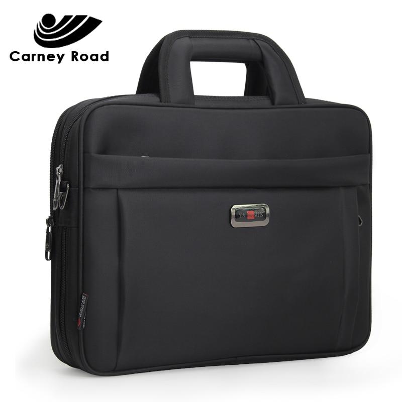Famous Brand Business Men Briefcase Luxury 14 15.6 Inch Laptop Handbag Single Shoulder Office Bags For Men Business Bag