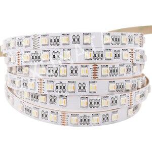 Image 2 - 5IN1 RGB+CCT LED Strip 5050 60leds 30Leds 96Leds/m 5 Colors in 1 chip CW+RGB+WW RGBW RGBWW flexible Led Tape Light 12V 24V