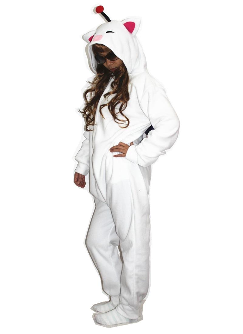 Vuxna Kigurumi Cosplay Kostym Final Fantasy MOG Moogle Onesie Pyjamas - Maskeradkläder och utklädnad - Foto 3