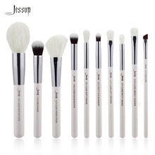 Jessup Pearl White/Silver Professional Makeup Brushes Set Make up Brush beauty Tools kit Foundation Powder Definer Shader Liner