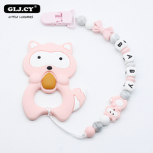 Handmade Silicone Pacifier Chains Safe Teething Chain Baby Personalized NameTeether Eco-friendly Pacifier Clips Holder Clip