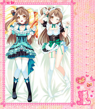 Anime Cartoon Love live    Double Bolster Hugging  Pillow Case Cover No.8016