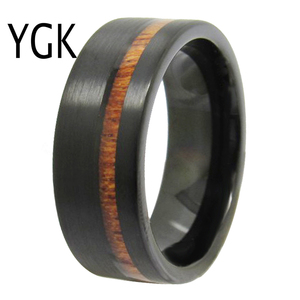 Image 4 - Bruiloft Sieraden Ringen Forwoman Mannen Hout Inlay Ring Nieuwe Tungsten Ringen Voor Mannen Bruidegom Bruiloft Engagement Anniversary Ring
