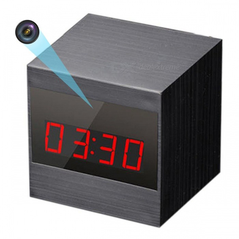 HD 1080P Wireless Camera Alarm Clock Mini Camera Home Security Surveillance Camera Recorder with Night Vision Remote Control ...
