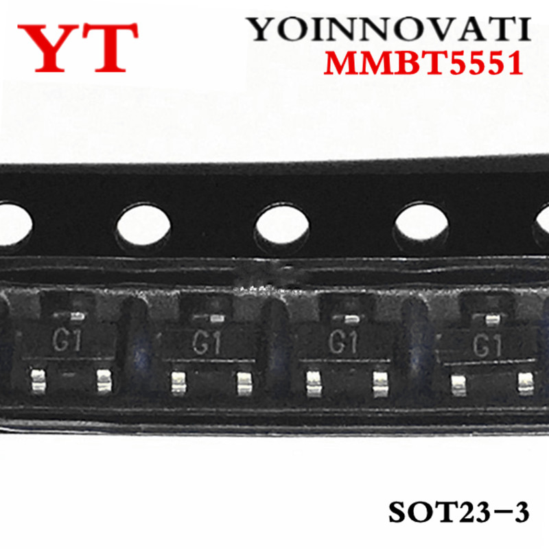 Free Shipping 100pcs/lot  MMBT5551 2N5551 G1 0.6A/180V NPN SMD SOT23 IC Best Quality