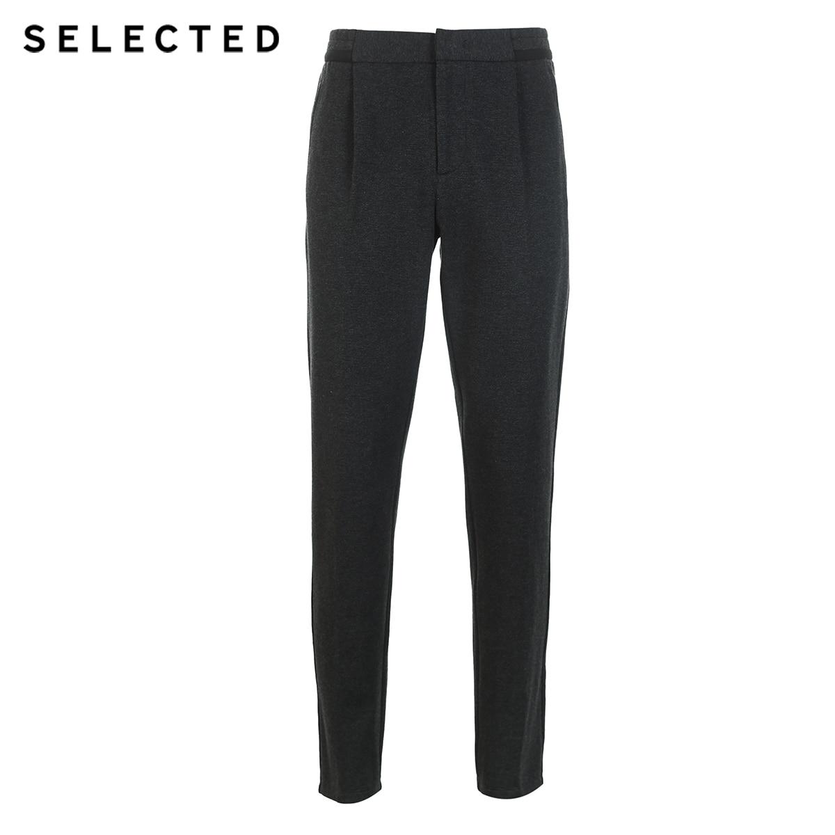 Hombres Melange Algodón S 419114543 Casuales De Cintura Los mezcla Charcoal Seleccionado Pantalones Elástico Btqfnn