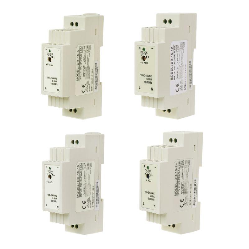 Industrial DIN Rail Switching Power Supply Input AC 100-240V Output 5V 12V 15V 24V