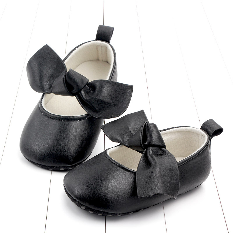 PU Leather Baby First Walkers Shoes Bow Soft Soled Anti-slip Footwear Crib Baby Girl Shoes Infant Toddler Best Gifts for Newborn (2)