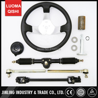 300mm Steering Wheel 420mm Gear Rack Pinion 380mm U Joint Tie Rod Knuckle Assy Fit For