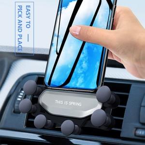 Image 3 - Upgrade Model Auto Telefoon Houder Ondersteuning Zwaartekracht Beugel Auto Gadget Anti Slip Auto Air Vent Amout Telefoons Automobiel Auto Accessoires