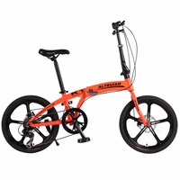 Altruism K1 20in Mountain Bicycles Aluminum Road Folding Bike Bicycle 7 Speed Gears Lightweight City Sports