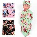 0-12 Meses Do Bebê Flor de Algodão Meninas Arco Headbans Acessorios Nwborn Blanke Receber Cobertores de Algodão Saco de Dormir Do Bebê Robusto