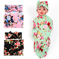 0-12 Months Flower Cotton Baby Girls Bow Headbans Acessorios Nwborn Baby Cotton  Sleeping Bag Chunky Blanke Receiving Blankets