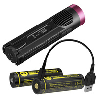 NITECORE EC4GT Red LIMITED EDITION Handy Portable 1000lm Emitter Flashlight 2x Micro USB Rechargeable Battery Charge