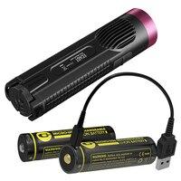 Nitecore ec4gt Красный Limited Edition удобный Портативный 1000lm излучатель фонарик + 2x Micro USB Перезаряжаемые Батарея + зарядный кабель