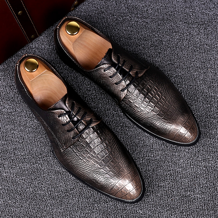 top quality mens business party dress pointed toe genuine leather shoes crocodile skin emboss flat oxford shoe Mocasines Hombre