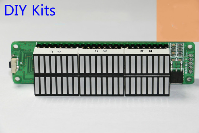 Mini Dual 24 indicador de Nível de Som Metros VU Placa de Velocidade Com AGC Modo DIY Kits de lâmpadas de Luz Ajustável