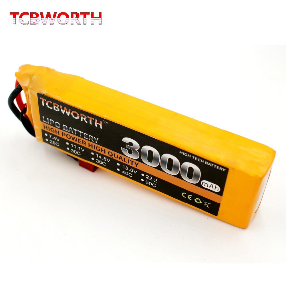 TCBWORTH 3S 11.1V 3000mAh 60C Max 120C RC LiPo battery For RC Airplane Helicopter Quadrotor Drone CX20 Li-ion battery 3 6v 2400mah rechargeable battery pack for psp 3000 2000