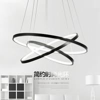 Modern led pendant lights 3 Circle Rings for kitchen living dining room led acryl aluminum body Pendant Lamp fixtures lighting
