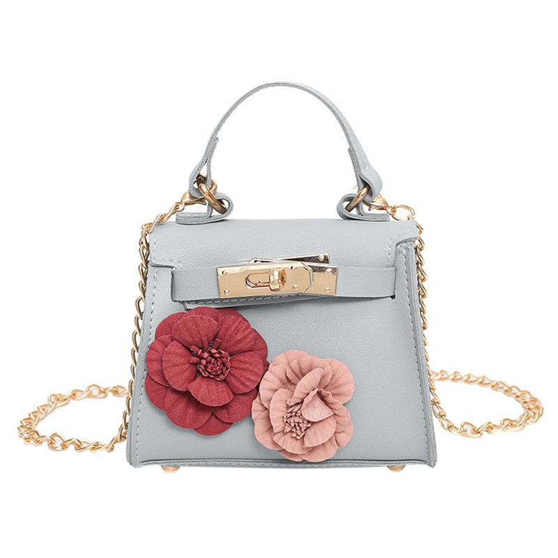 Women Mini Shoulder Bags Flower PU Coin Purse Party Handbags Messenger Bags Long Strap Crossbody Bag bolsa feminina