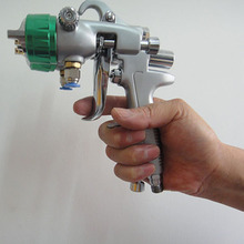 цена на SAT1189 air brush foundation spray painting for cars hvlp paint spray gun double nozzle