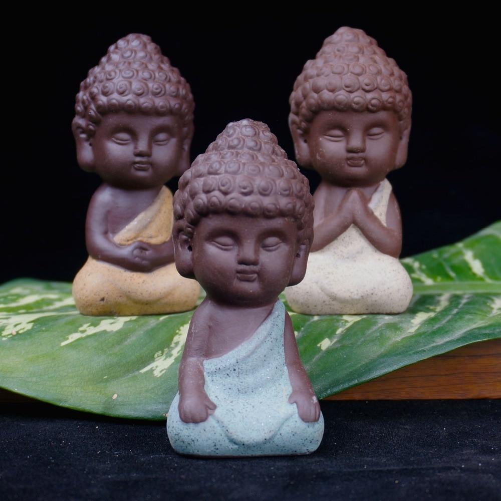 Pequeña estatua de Buda monje estatuilla tathagata India Yoga - Decoración del hogar - foto 5