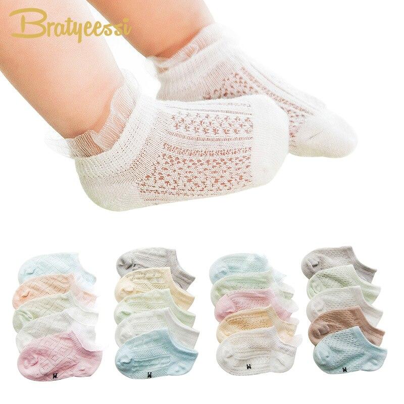 5 paren zomer babysokjes voor meisjes Lace enkellange katoen - Babykleding
