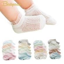5 זוגות קיץ בייבי גרביים לנערות תחרה אנקאל אורך כותנה יילוד גרביים לבנים 0-3 שנים