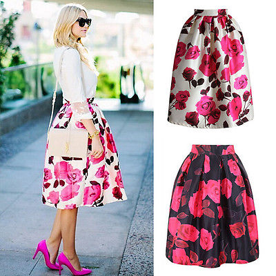 High Waisted Flared Skirts Promotion-Shop for Promotional High ...