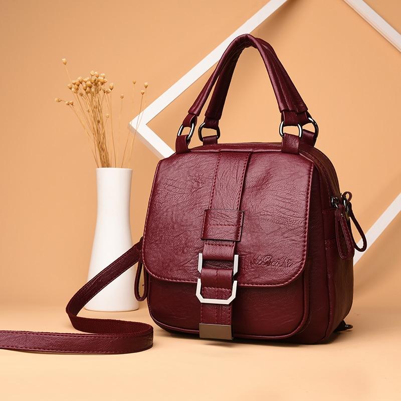 Female Backpack Mochila Female Casual Multi-Function Leather Female Student Shoulder Bag Sac A Dos Travel Backpack