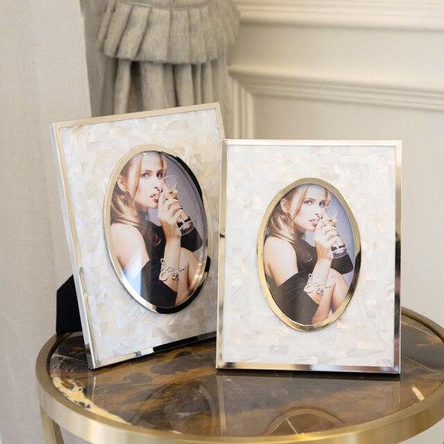 2 Unitspack Luxury High Grade American Style Seashell Photo Frames