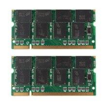 2 GB 2X1 GB PC2700 DDR-333 Non-ECC 200-Pin CL2.5 Ordinateur Portable (SODIMM) Mémoire (RAM) nouveau