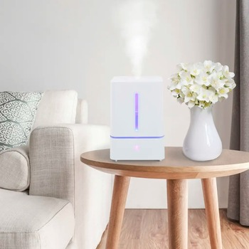 VidaXL 5.5 L Humidifier With Mist And Light Touch Aroma Essential Oil Diffuser Ultrasonic Cool Mist Humidifier Air Purifier