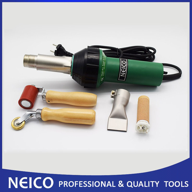 Free Shipping New Hot Air Welding Heat Gun Kits 230V 110V 1600W Hand Plastic Welder Of