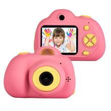 Dzieci Cartoon aparat lustrzanka cyfrowa 8MP 2 calowy inteligentny aparat fotograficzny odporna na wstrząsy stała gęstość wiązki zabawki aparaty dla dzieci prezent na boże narodzenie chłopiec Selfie