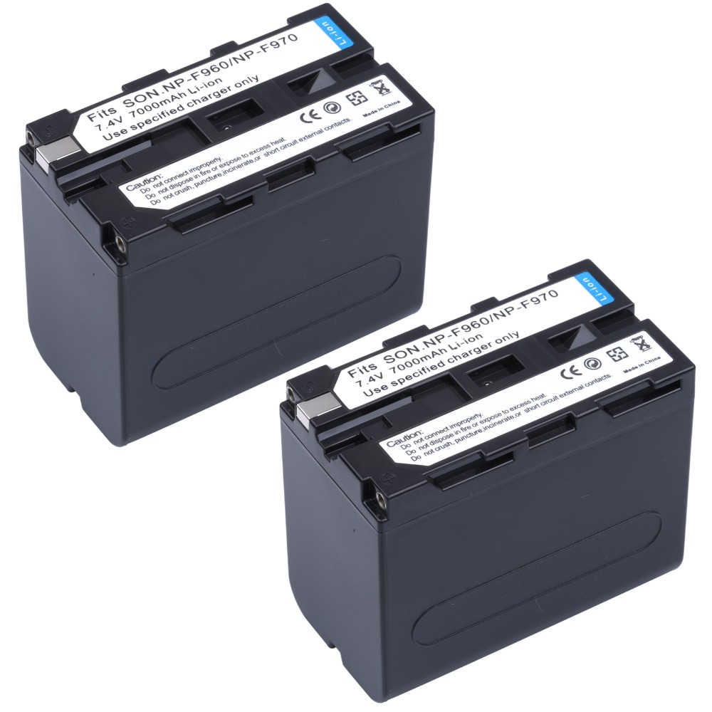 2pcs Np-f970 Np-f960 Np F960 Np F970 Digital Battery For Sony Dcr-vx2100 Hdr-ax2000 Fx1 Fx7 Fx1000 Hvr-hd1000u V1u Z1p Z1u Z5u Bringing More Convenience To The People In Their Daily Life