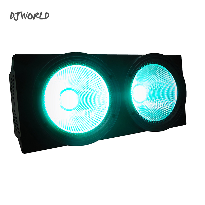 Djworld 2Eyes COB LED Blinder LED Par RGBW And Mixed 4in1 Stage Lamp Effect For Stage Effect Light  DJ Disco Lighting Party