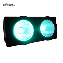 Djworld 2Eyes COB LED Blinder LED Par RGBW And Mixed 4in1 Stage Lamp Effect For Stage Effect Light  DJ Disco Lighting Party стоимость
