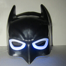 Factory Price LED Batman Masks Lighting Halloween Mask, JSF-Masks-024