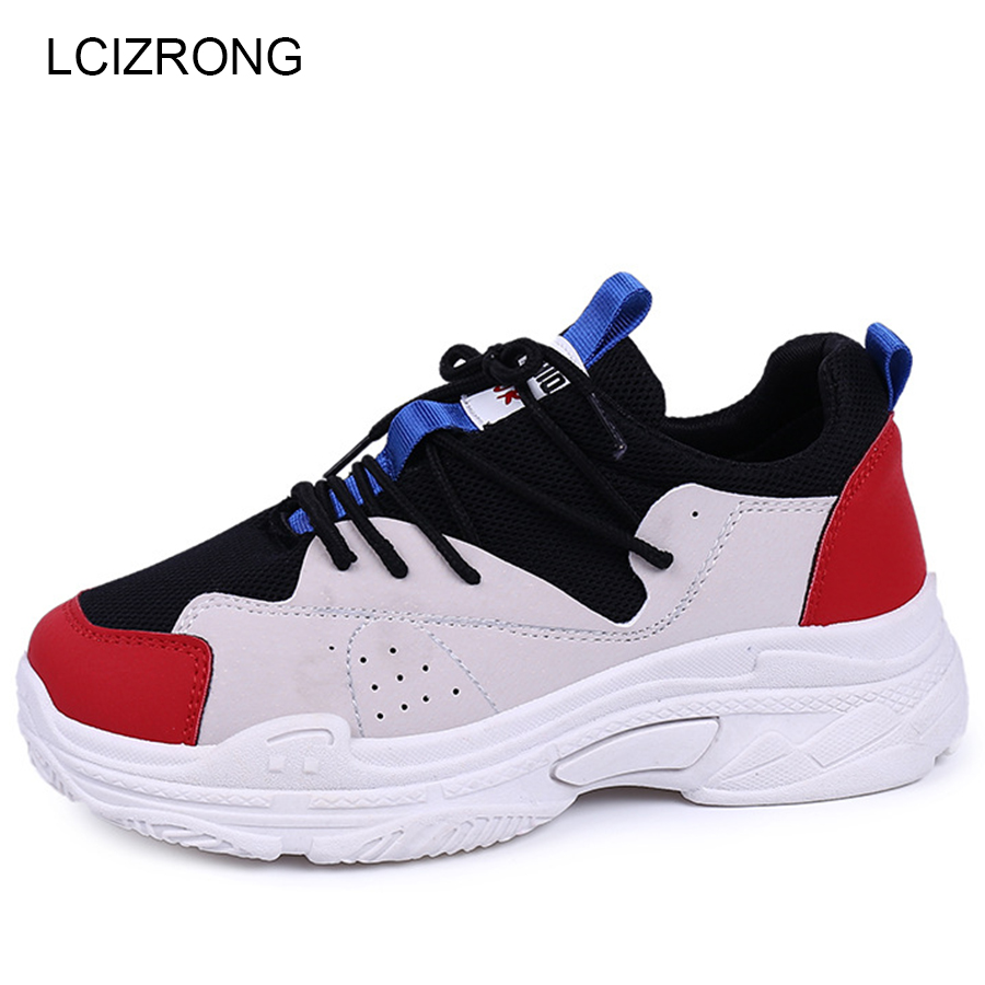 LCIZRONG Fashion Summer Casual Shoes Women Sneakers Black White Sewing Cross-tied Ladies Shoes Breathable Non-slip Shoes Female