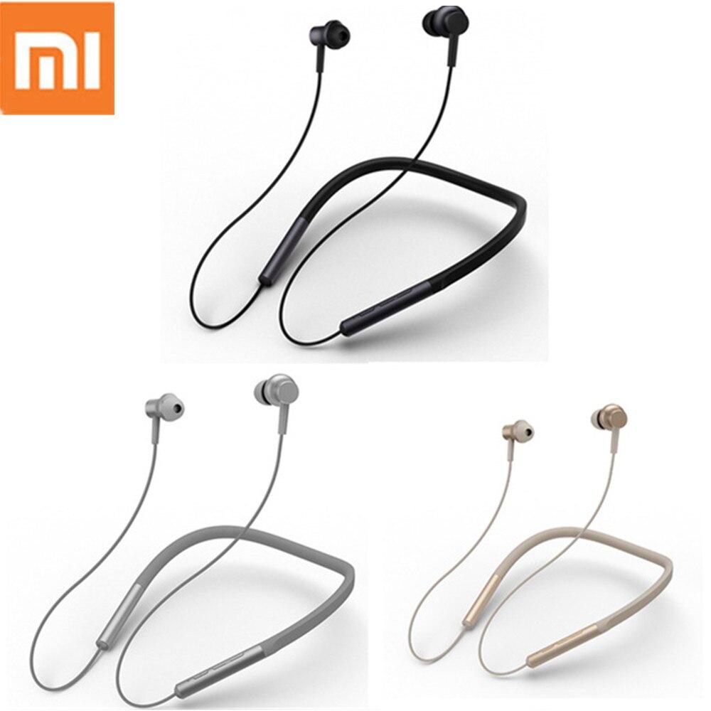 купить Original Xiaomi Bluetooth Earphone 2018 Newest Sport Neckband Wireless Headset with Mic Play Apt-X Dual Dynamic For Android IOS онлайн