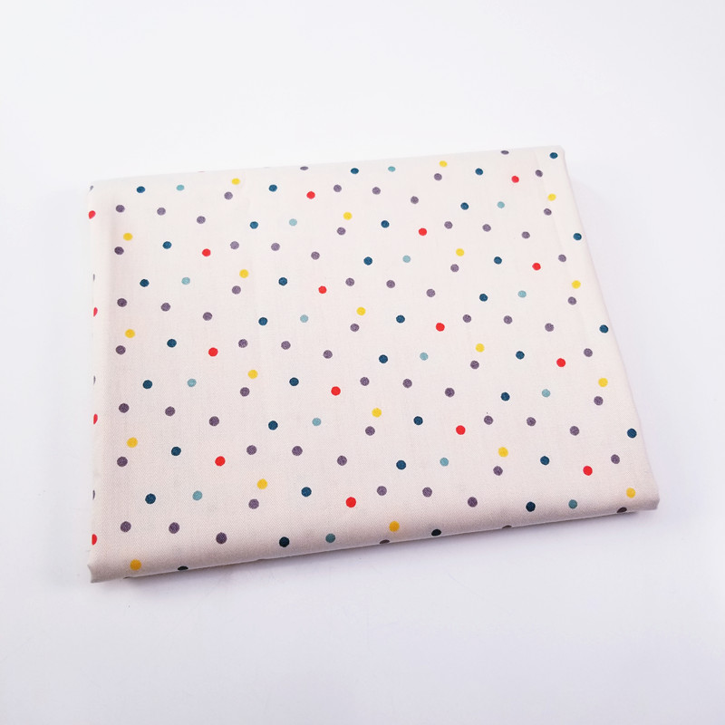 1pcs Colorful Dots 100% Cotton Fabric For Home Textile Cushions Sewing Baby Quilts Fabric Home Decoration Material  50x40cm