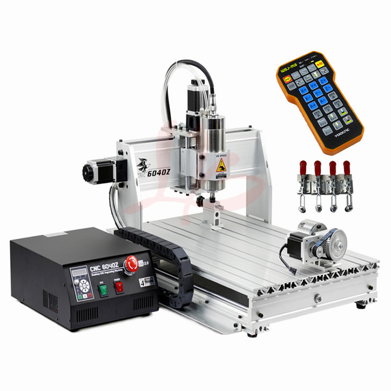 Limit Switch (USB Port) Wood Router 6040 2.2KW CNC Spindle Metal Stone Carving Machine with Mach 3 control, No Tax To Russia no tax to eu 2 2kw 8060 cnc machine 3axis metal engraving router 4000mm min with usb port and mach3 remote control