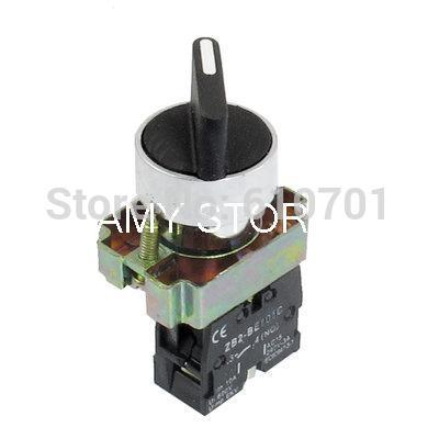AC 600V 10A 1 NO N/O Self Lock 2 Postion Rotary Selector Switch 22mm ZB2-BD21