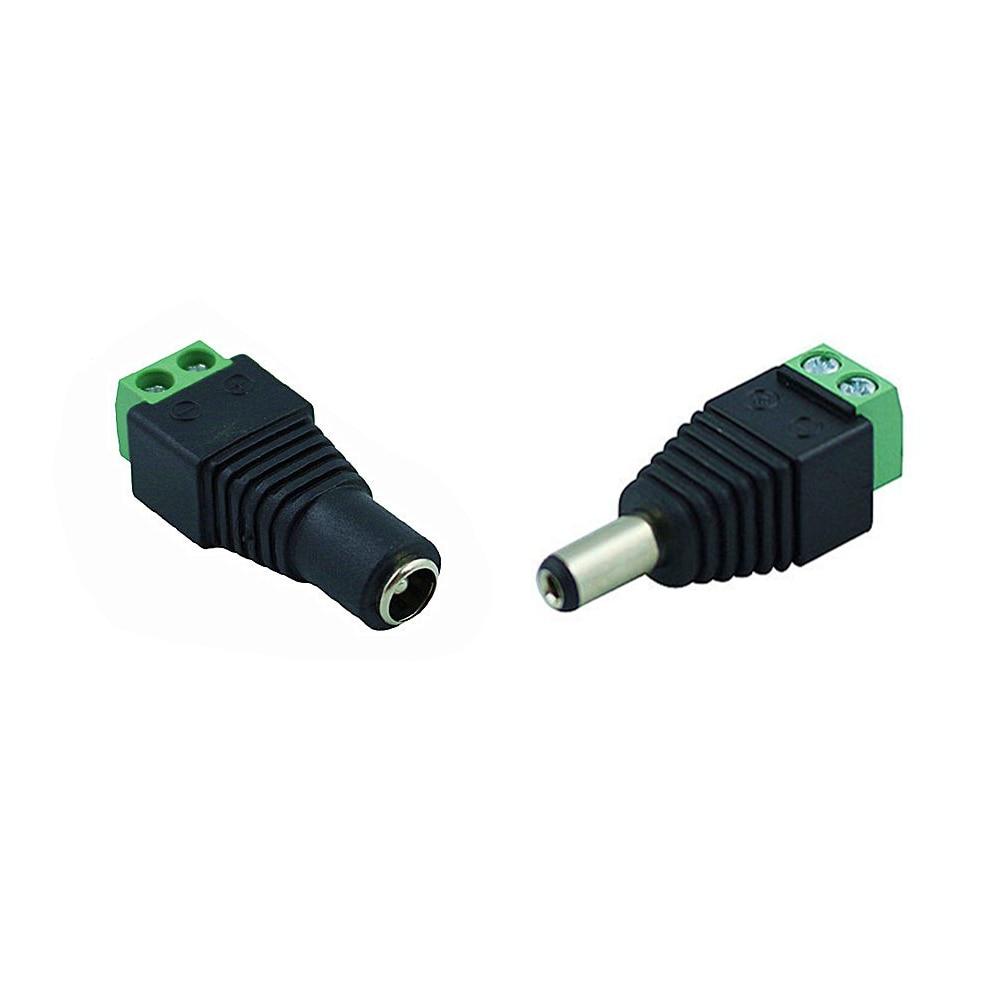 Smart Electronics Male Female 5.5 X 2.1mm DC Power 12V 24V Jack Adapter Connector Plug CCTV Camera